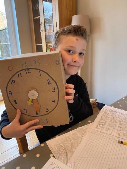 Charlie's very creative homemade clock!