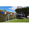 Joseph's garden with his bunting proudly displayed