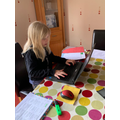 Chloe working on her ULTIMATE Learn Its