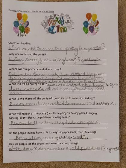 Amail's party plan!