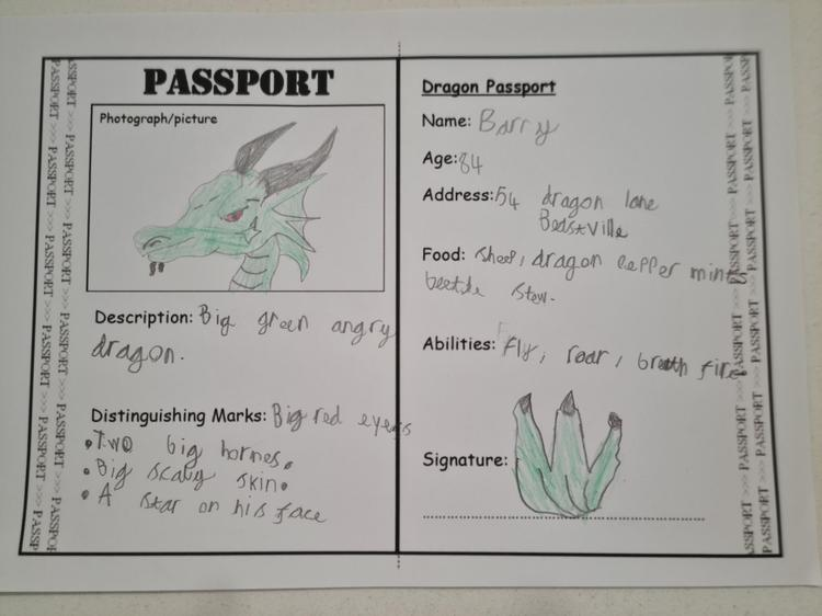 A brilliant signature on this dragon passport by Jude.