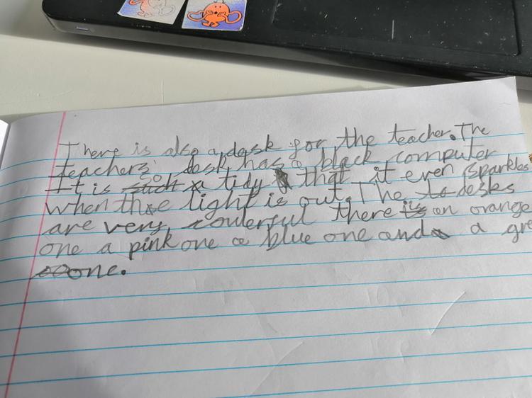 The end of Isla's wonderful writing.