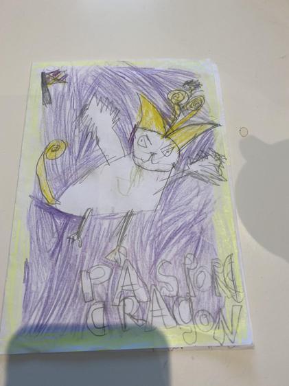 A fantastic dragon drawn by Alvin.