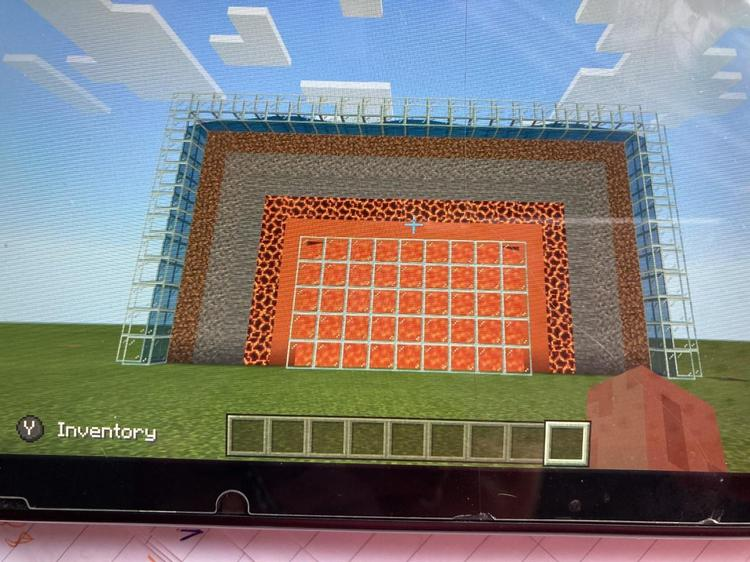 Harry's minecraft world for the layers of the Earth