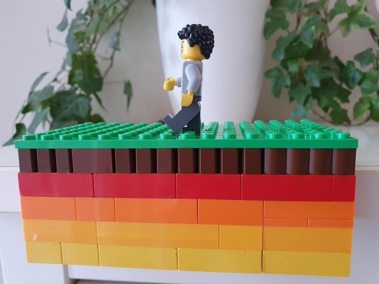 Kieran's Lego layers of the Earth