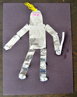 Make a Knight using foil.  Practice tracing and writing the letters  K n i g h t
