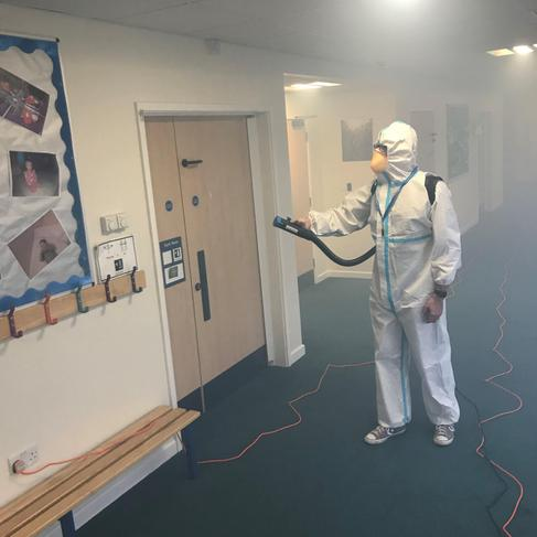 Dr Fog cleaning - KS2 corridor