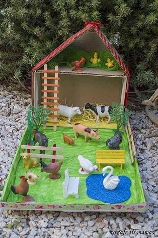 Example of a junk model farmyard