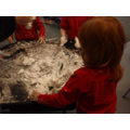 Shaving foam fun