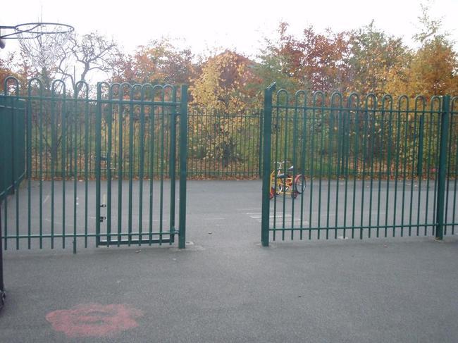 Playground gates