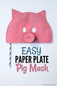 An example of a paper pig mask