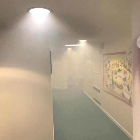 Dr Fog cleaning - KS1 corridor 2