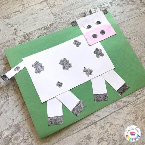A cow made from shapes