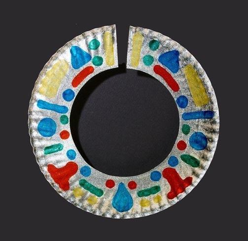 Massai paper plate necklace