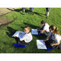 The whole school went outside to draw!