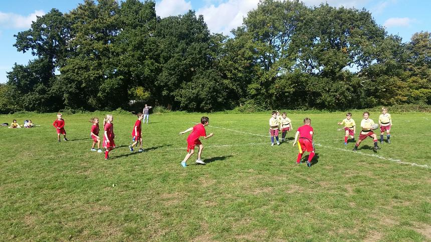 On Wednesday 3rd October, six Unit 2 children represented the school in a tag rugby competition. The children enjoyed playing against four other schools from the local area. The team demonstrated a fantastic attitude towards each other and their opponents, and they were a huge credit to the school.