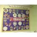 We designed a picture on the computer for Diwali.