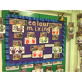 We explored colour mixing.