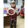 We made dreamcatchers!