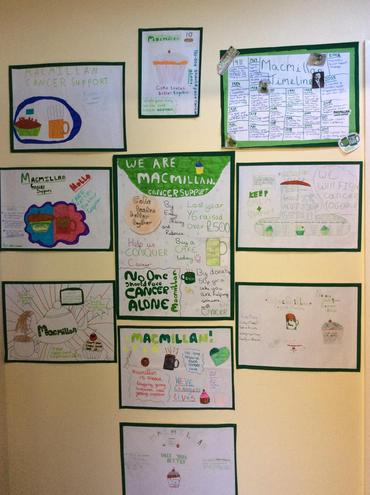 Researching and promoting the charity Macmillan