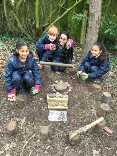 We made a scale model of Forest School.