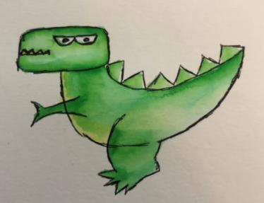 MIss B's dinosaur