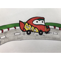 Miss B's - where could the car be racing to?!