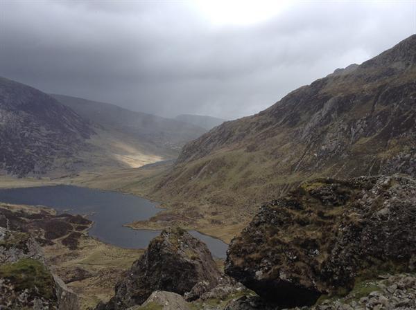 A calmer vision of the mountains!