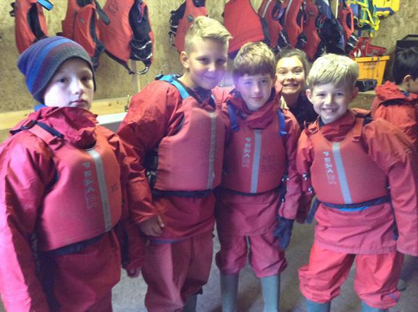Boys ready in their Bouyancy aids!