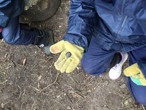 We used compasses to help us find our bearings.