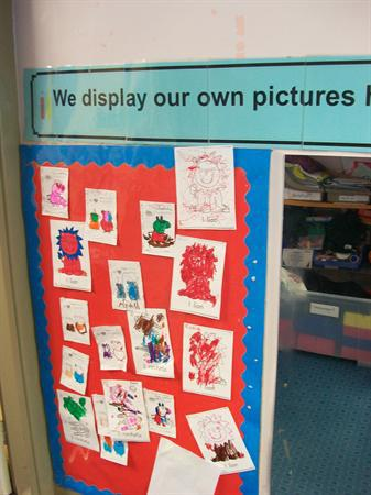 Displaying our own art.