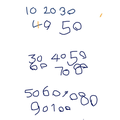 Writing numbers in steps of 10