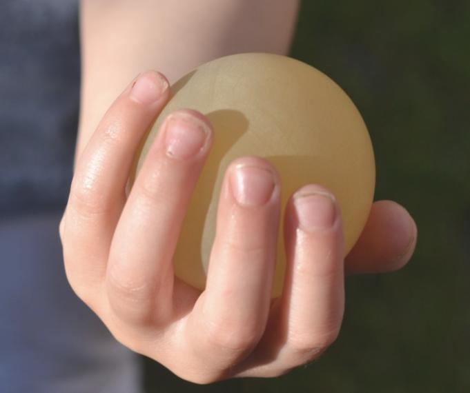 The egg shell totally came off the egg in vinegar