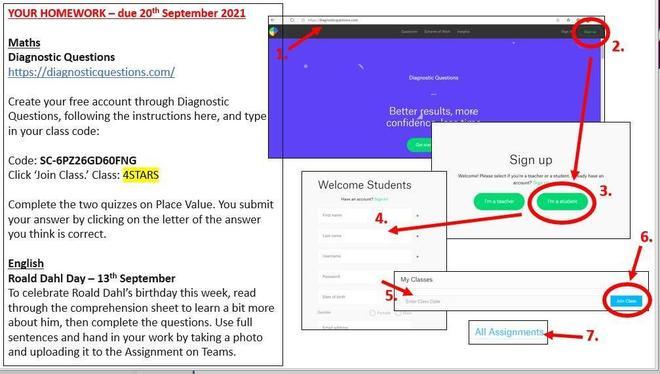 Homework set Friday 17th September