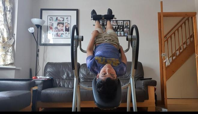 Ammar exercising