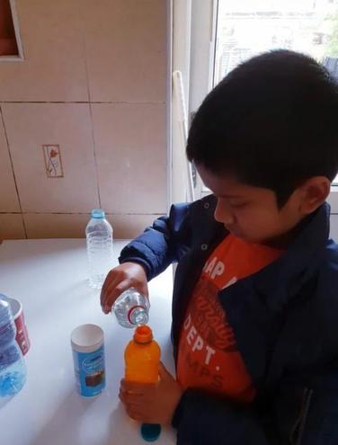 Sanjay preparing his experiment