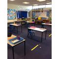 Year 3/4 in Year 6's Classroom