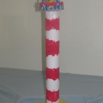 Kitchen roll lighthouse