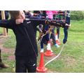 Archery skills.