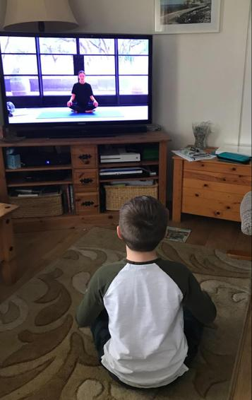 Luca had a go at yoga, but said it wasn't as good as Mrs Dolman's yoga lessons