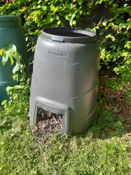 Opening up the compost bin