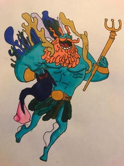 Luca - drawing of Poseidon