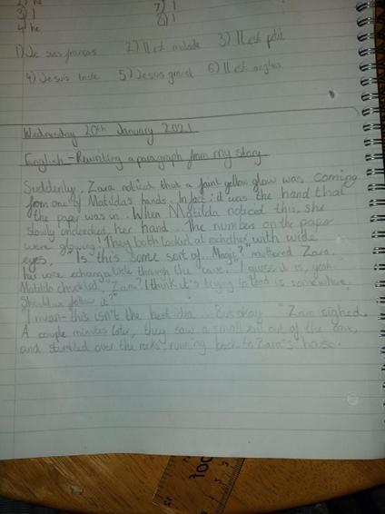 Olivia's rewritten paragraph