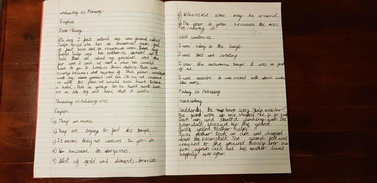 Beautiful handwriting Hubert