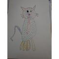 A rainbow cat!
