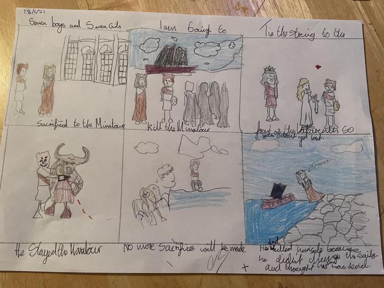 Bailey Minotaur story strip