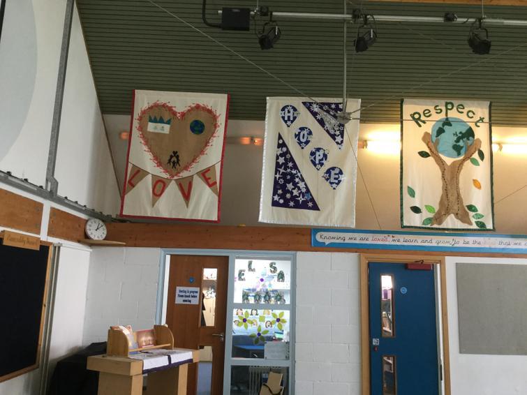 Each class made a banner