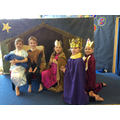Mary, Joseph and the three royal kings