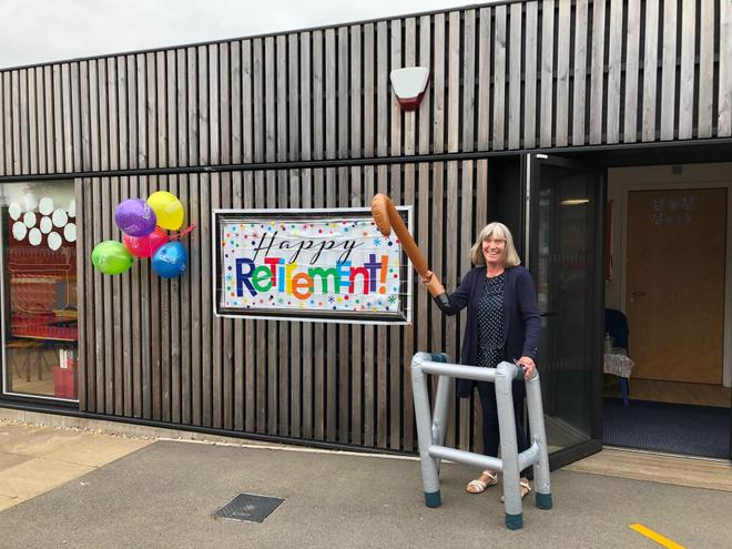 Mrs Gainford's last day at school