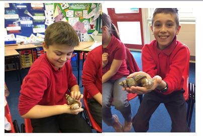 Saying hello to Michelle the Snail.